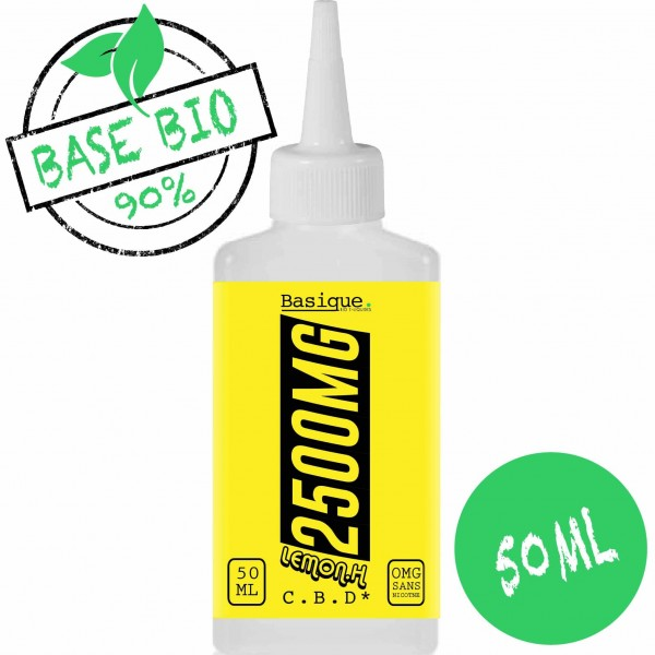 Lemon OG - 2500mg CBD -  Bio Basique. 50ml
