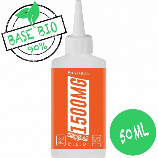 Orange Bud - 1500 mg CBD -  Bio Basique. 50ml