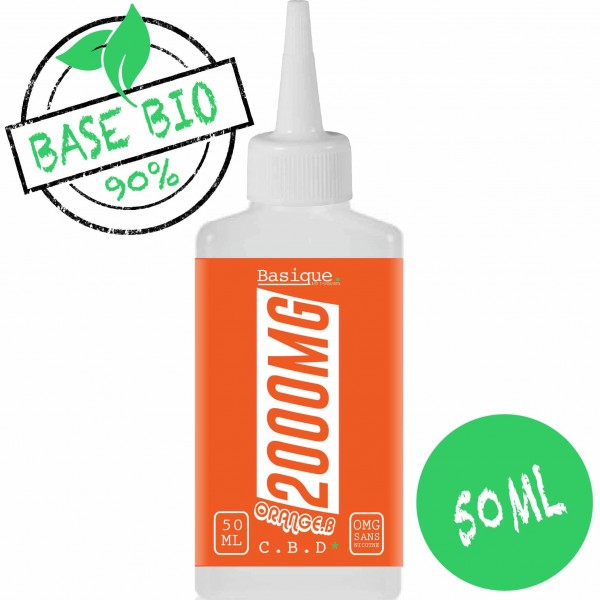 Orange Bud - 2000 mg CBD -  Bio Basique. 50ml